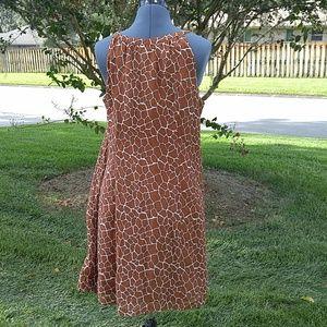 Merona Dresses - Giraffe print, summer dress